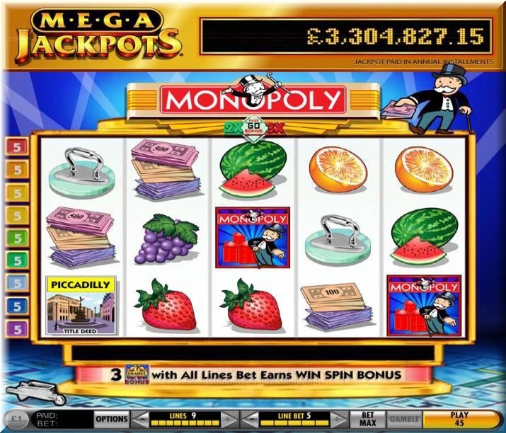 MegaJackpots_Monopoly_Slot frame