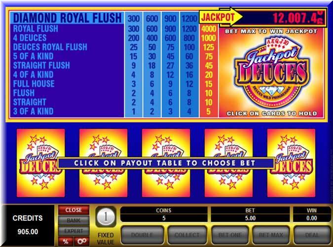 jackpot deuces frame